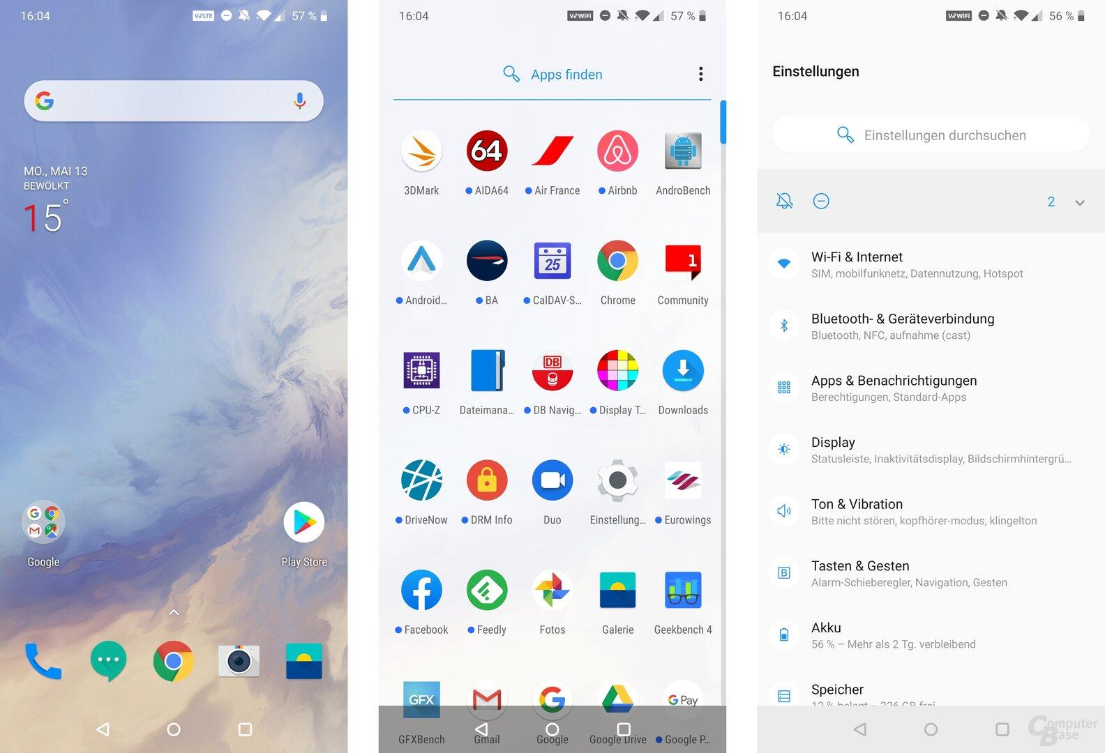 OxygenOS 9.5.2GM21BA auf Basis von Android 9.0 Pie