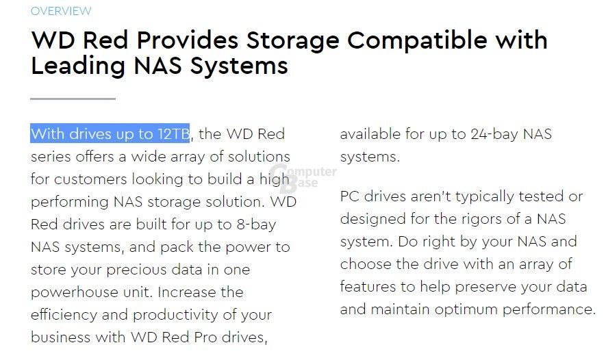 Hersteller bestätigt 12 TB für WD Red (Pro)