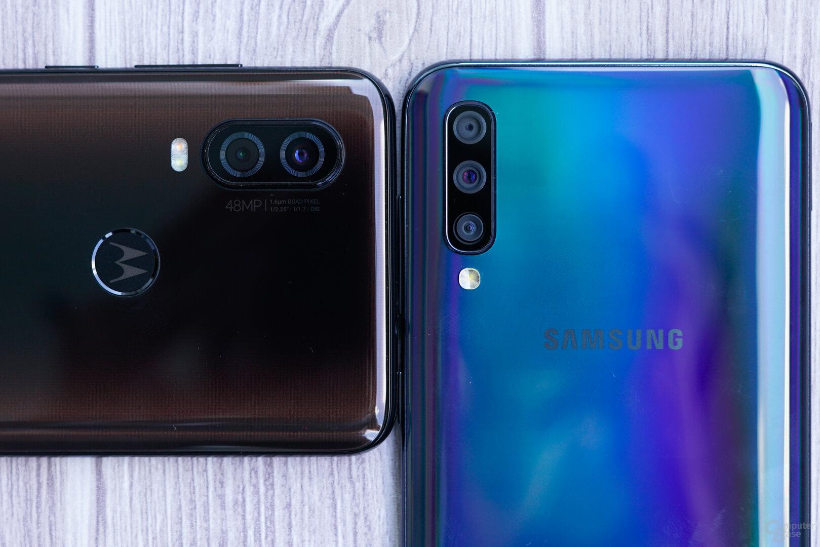 Ein Kopf-an-Kopf-Rennen: Motorola One Vision gegen Samsung Galaxy A50