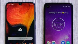 One Vision und Galaxy A50 im Test: 300-Euro-Mittelklasse von Motorola und Samsung