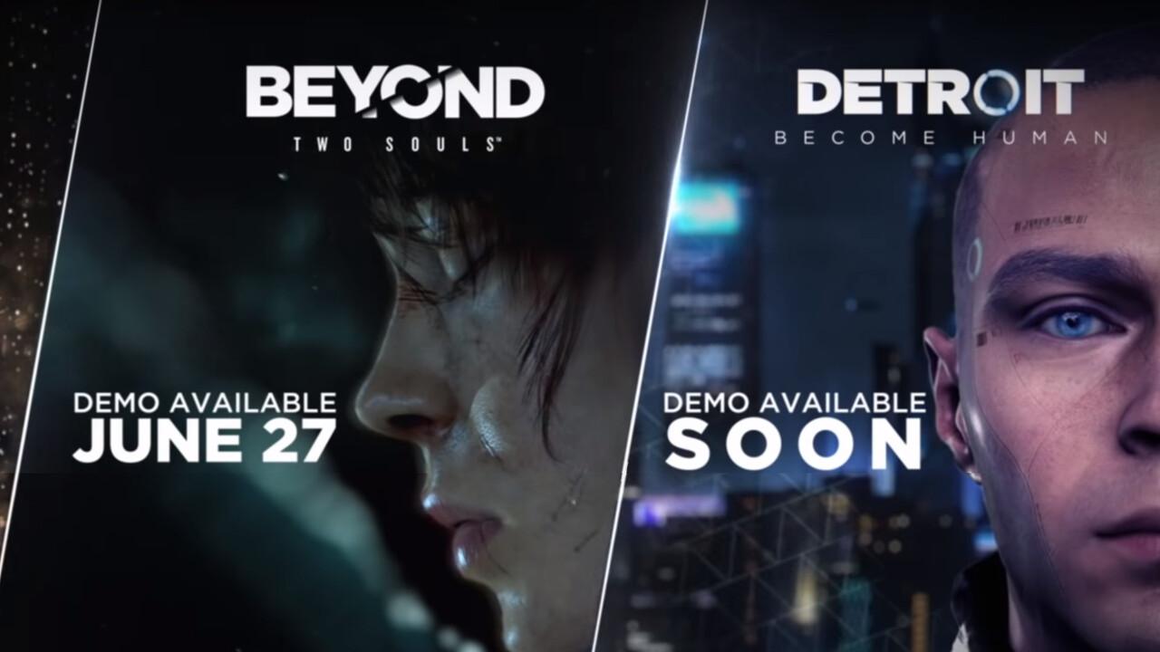 Detroit: Become Human & Co.: Release-Termine und Demos für PC angekündigt