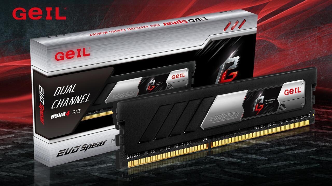 Phantom Gaming Edition (AMD): Flacher Evo-Spear-RAM von GeIL als Sonderedition