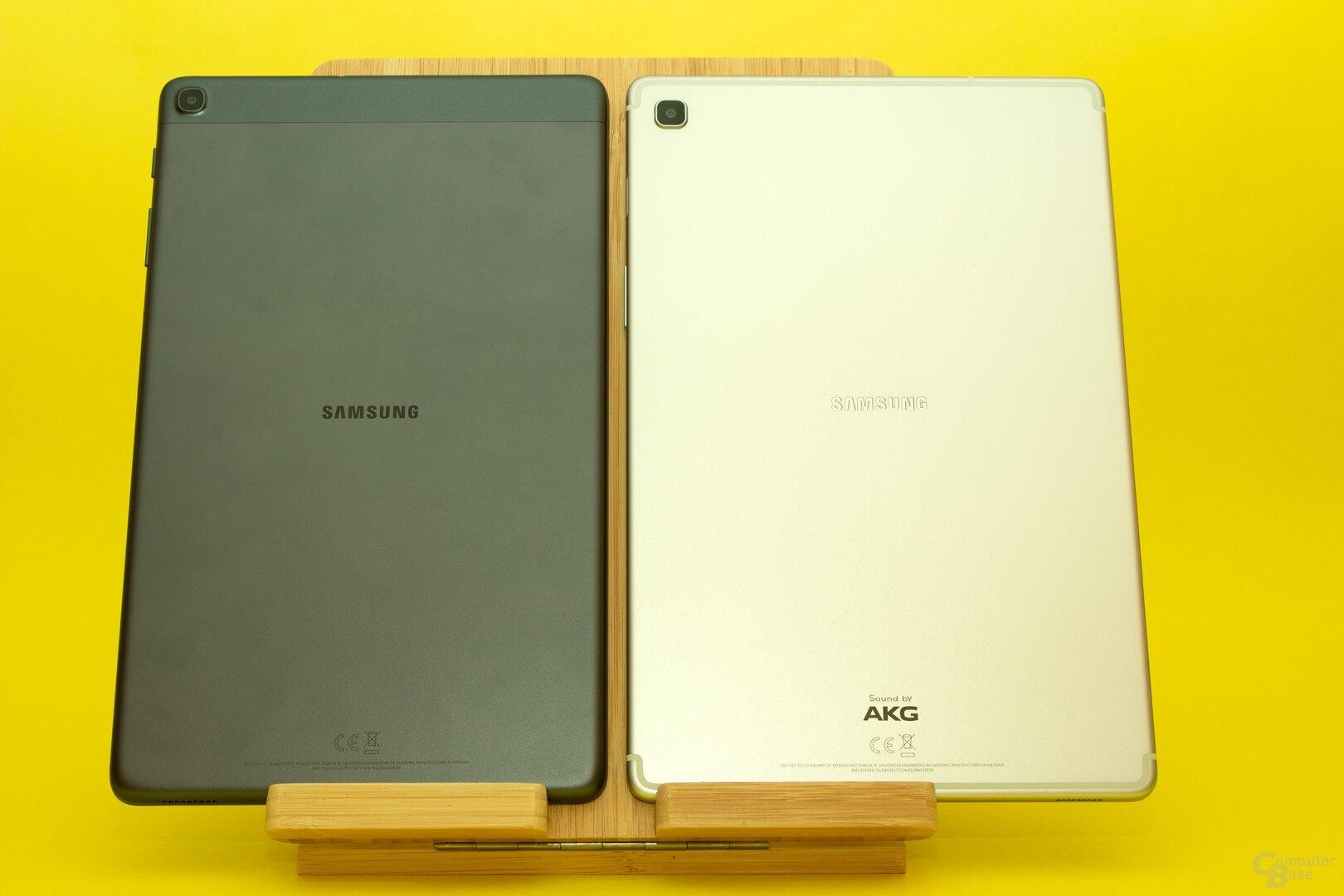 Samsung setzt bei beiden Tablets auf eine Rückseite aus Aluminium – welche schon einmal für kalte Finger sorgen kann