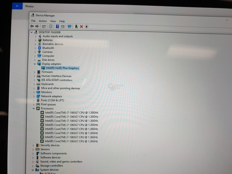 Intel Core i7-1065G7 mit Iris Plus
