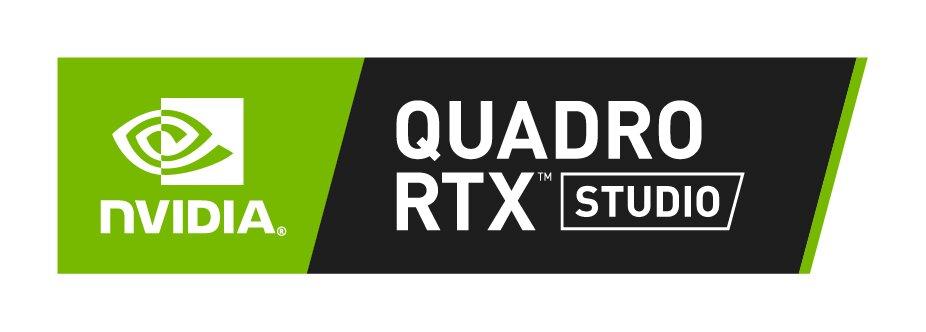 Plakette Nvidia Quadro RTX Studio