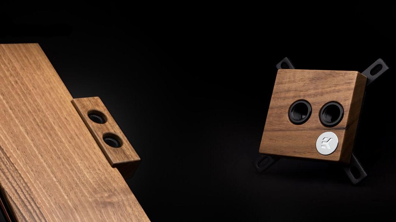 EK Water Blocks: Lignum-Kühler mit Holz und eine Lüftersteuerung