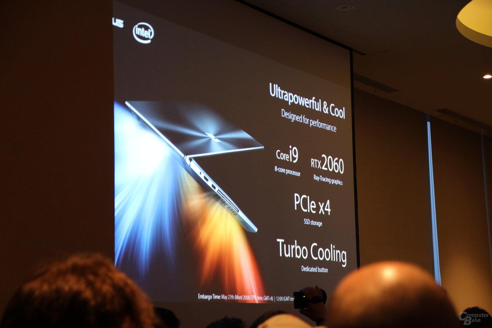 Schnelle Hardware mit Core i9 und GeForce RTX