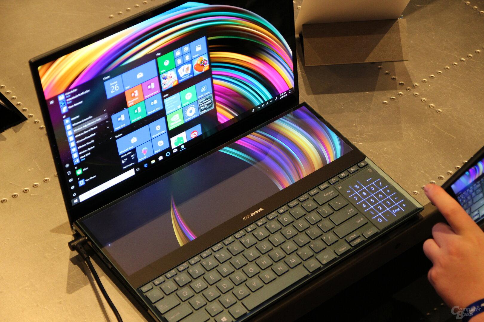 Das Asus ZenBook Pro Duo mit riesigem Zweit-Display