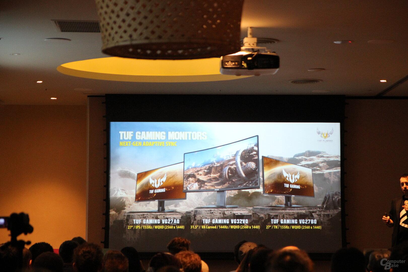 Neue Asus-Monitore der Reihe TUF Gaming
