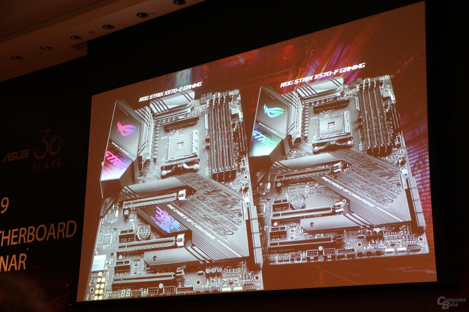 X570-Mainboards von Asus in der Präsentation