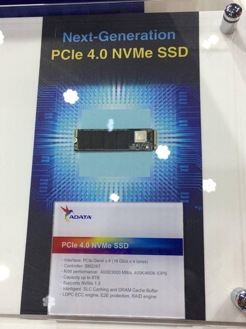 Adata PCIe 4.0 NVMe SSD mit SM2267