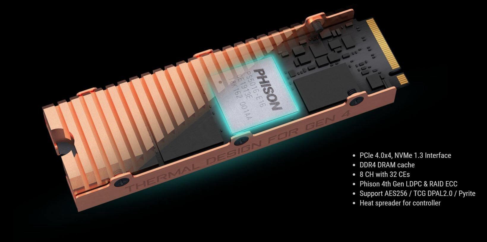 Phison E16 mit PCIe 4.0 und NVMe 1.3