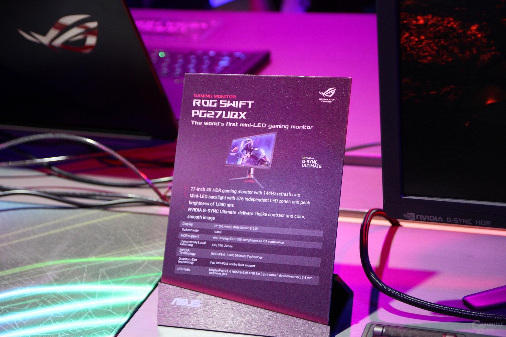 Asus ROG Swift PG27UQX mit Mini-LED-Backlight