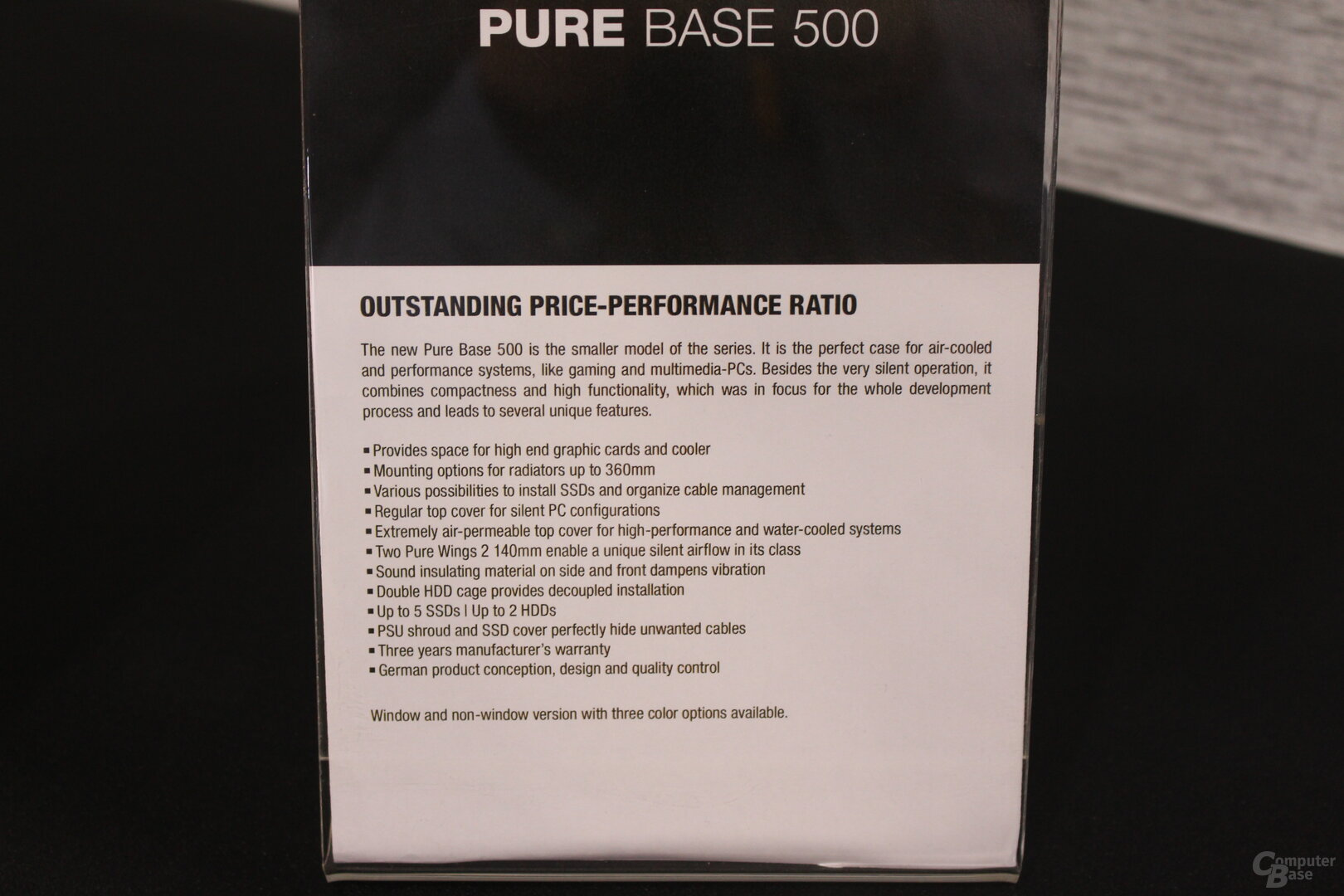 be quiet! Pure Base 500