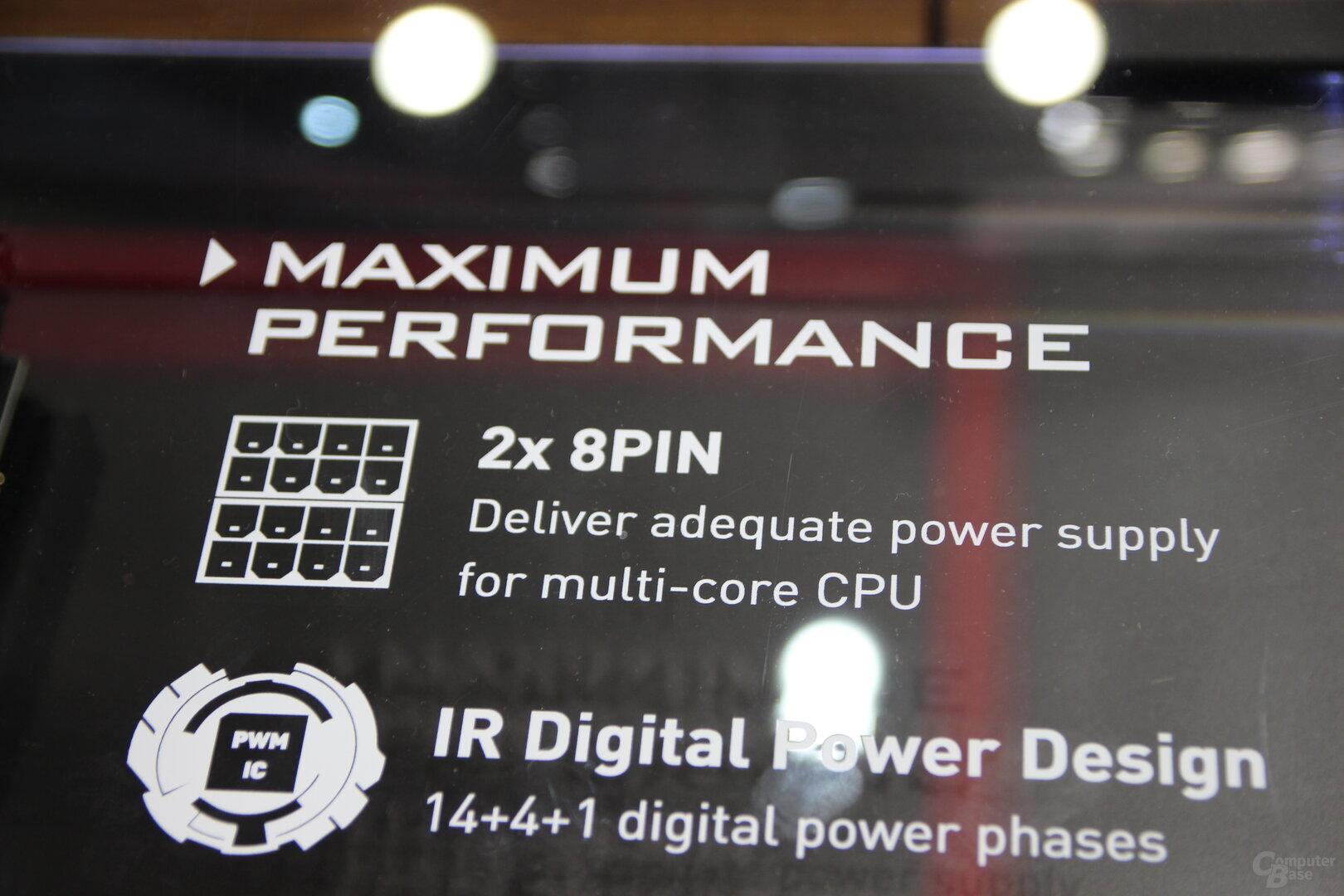MSI X570 mit 2 × 8 Pin