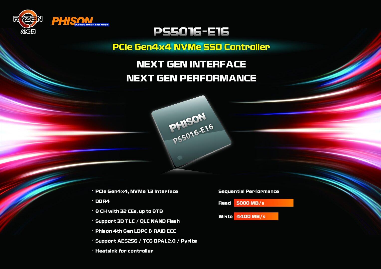 Phison E16 mit PCIe 4.0 für 5.000 MB/s