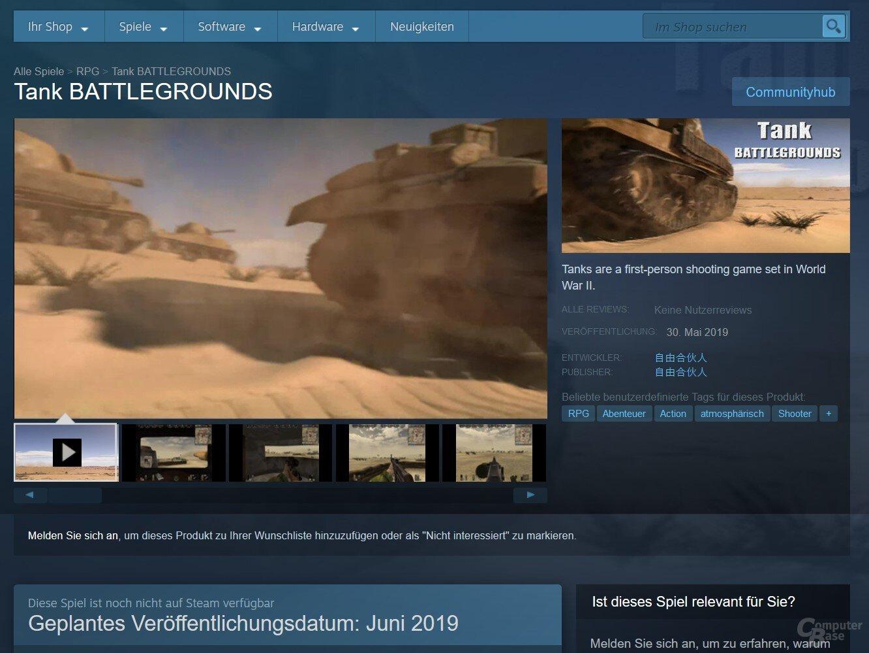 Das Bild- und Videomaterial von Tank Battlegrounds stammt von oder aus Battlefield 1942