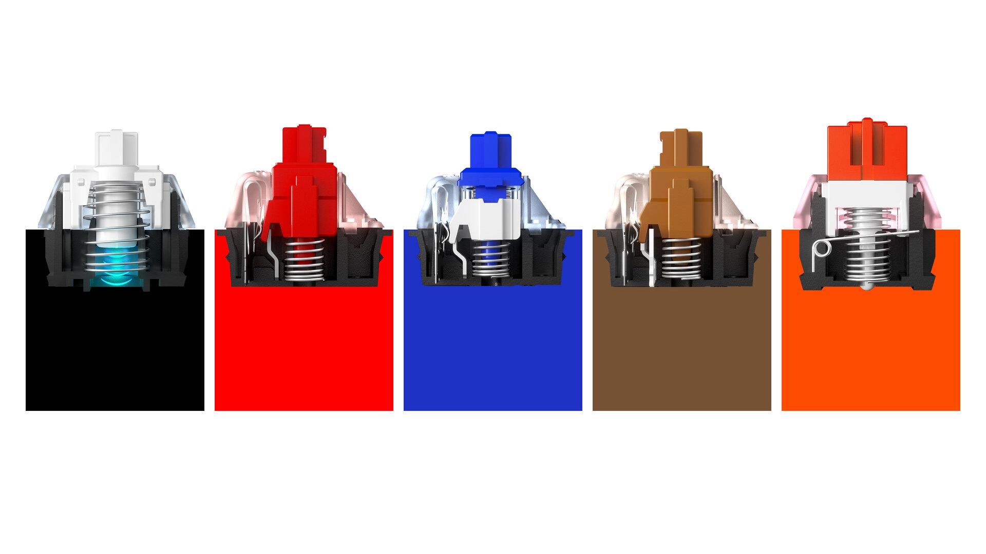 SteelSeries OmniPoint Taster im Vergleich mit normalen Modellen