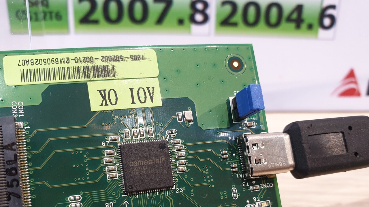 USB 3.2 Gen 2x2: 2 GByte pro Sekunde von externer Quelle in Aktion
