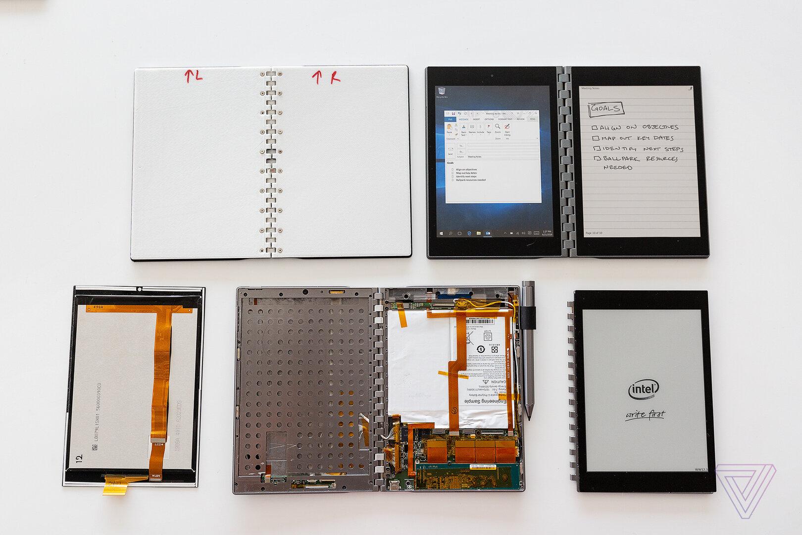 Dual-Screen-Prototyp von Intel (Stand Oktober 2018)
