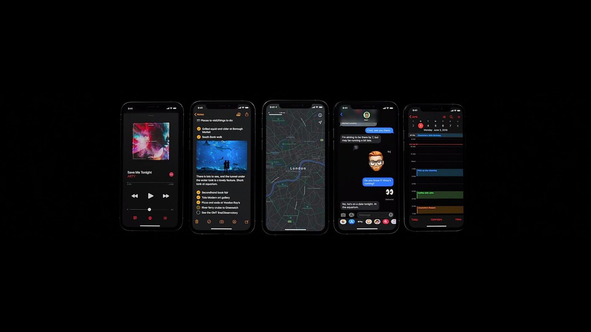 Dunkle Apps für iOS 13