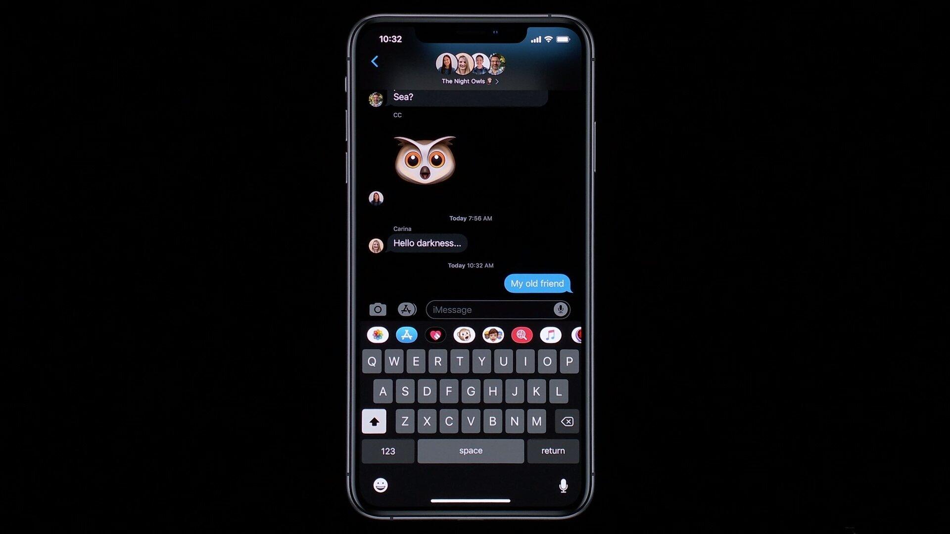 Nachrichten-App im Dark Mode