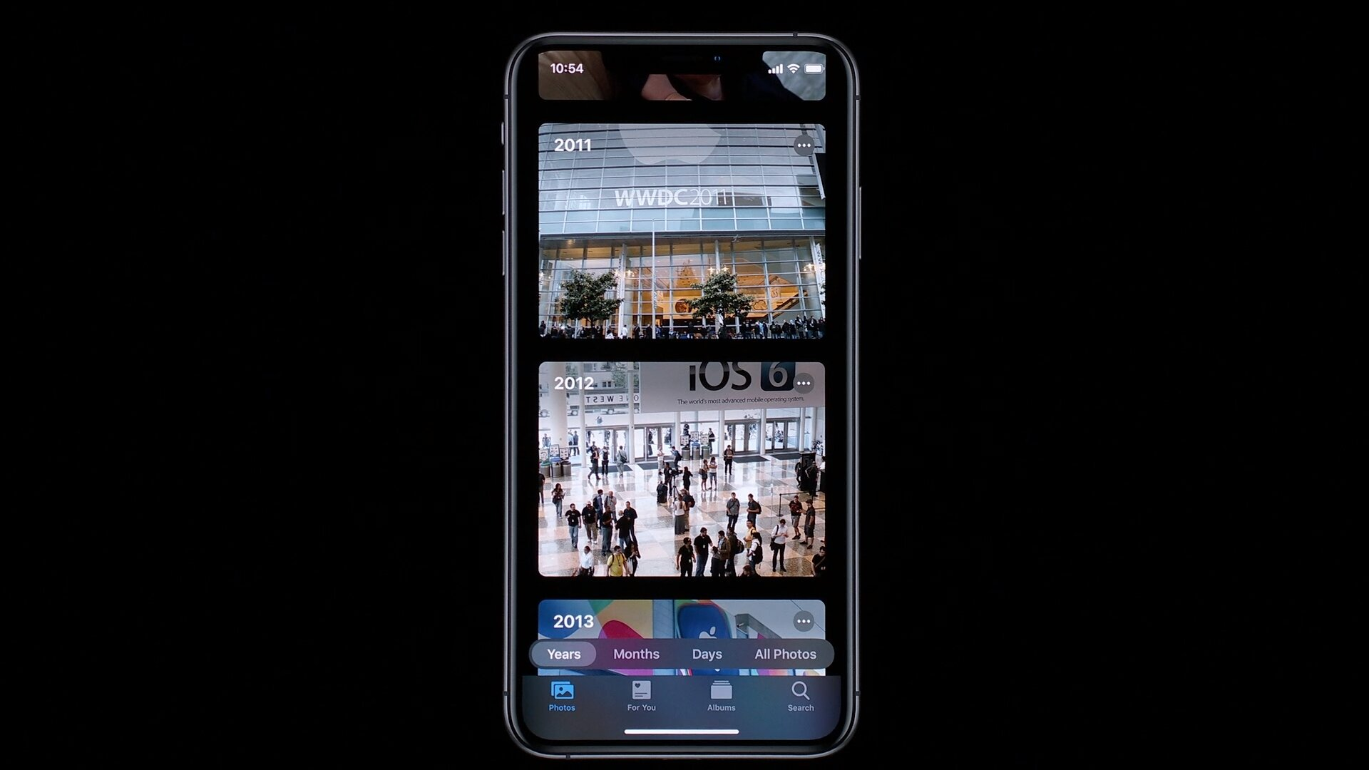 Neue Fotos-App im Dark Mode