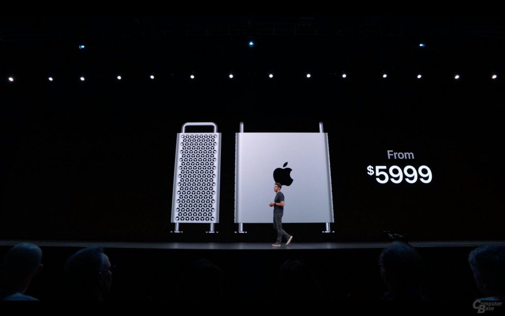 Der neue Mac Pro kostet mindestens 5.999 US-Dollar vor Steuern