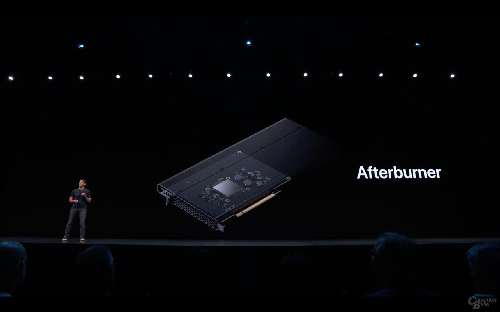 Der Apple Afterburner mit FPGA zur Beschleunigung von ProRes (RAW)