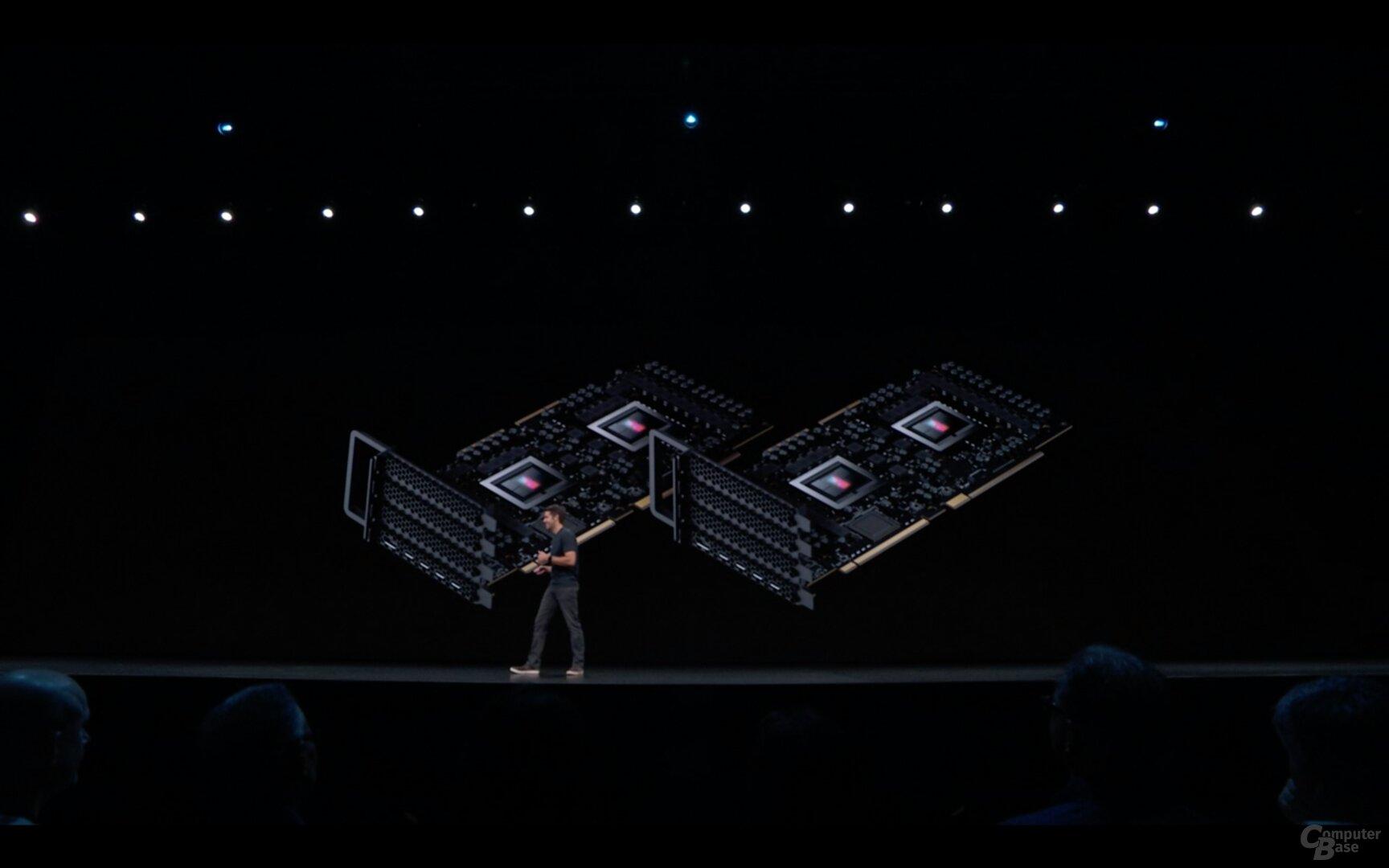 Bis zu zwei Dual-Radeon-VII mit je 64 GB HBM2