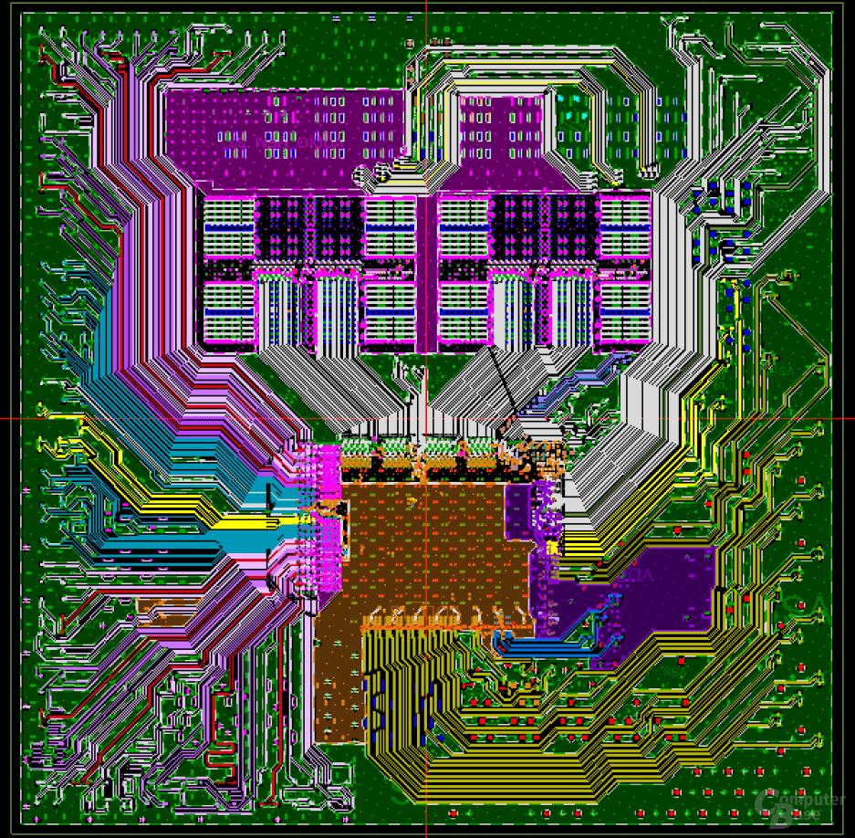 Zwei CPU-Dies und ein IO-Die