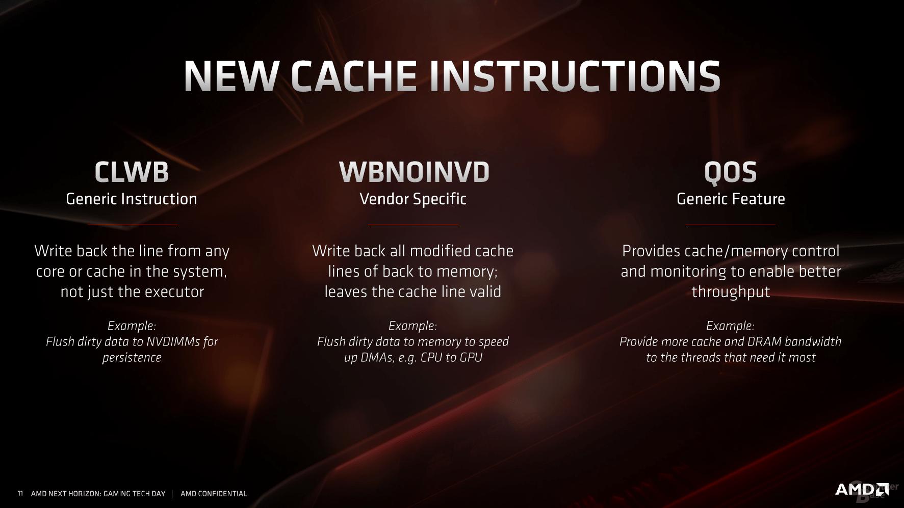 Neue Cache-Befehle bei Zen 2