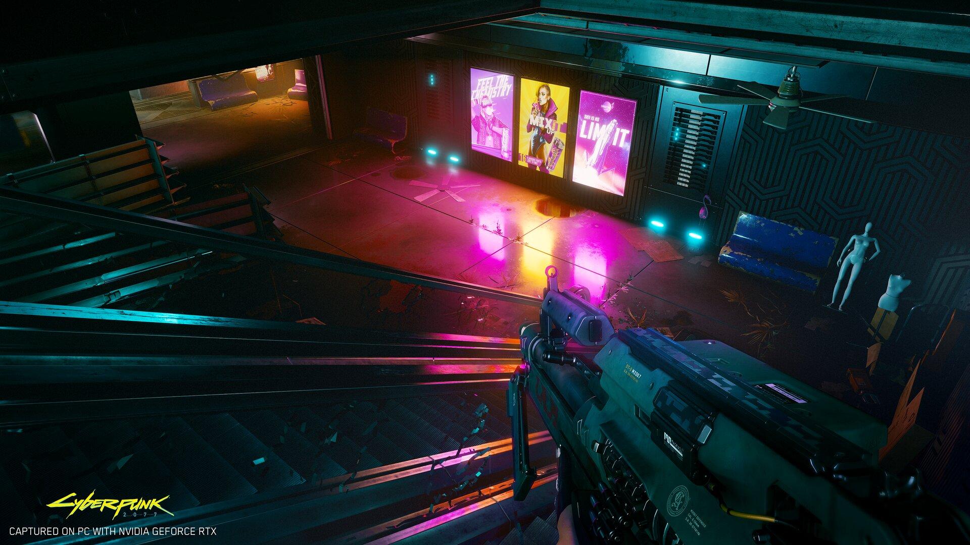 4K-Screenshot aus Cyberpunk 2077 mit Raytracing auf GeForce RTX