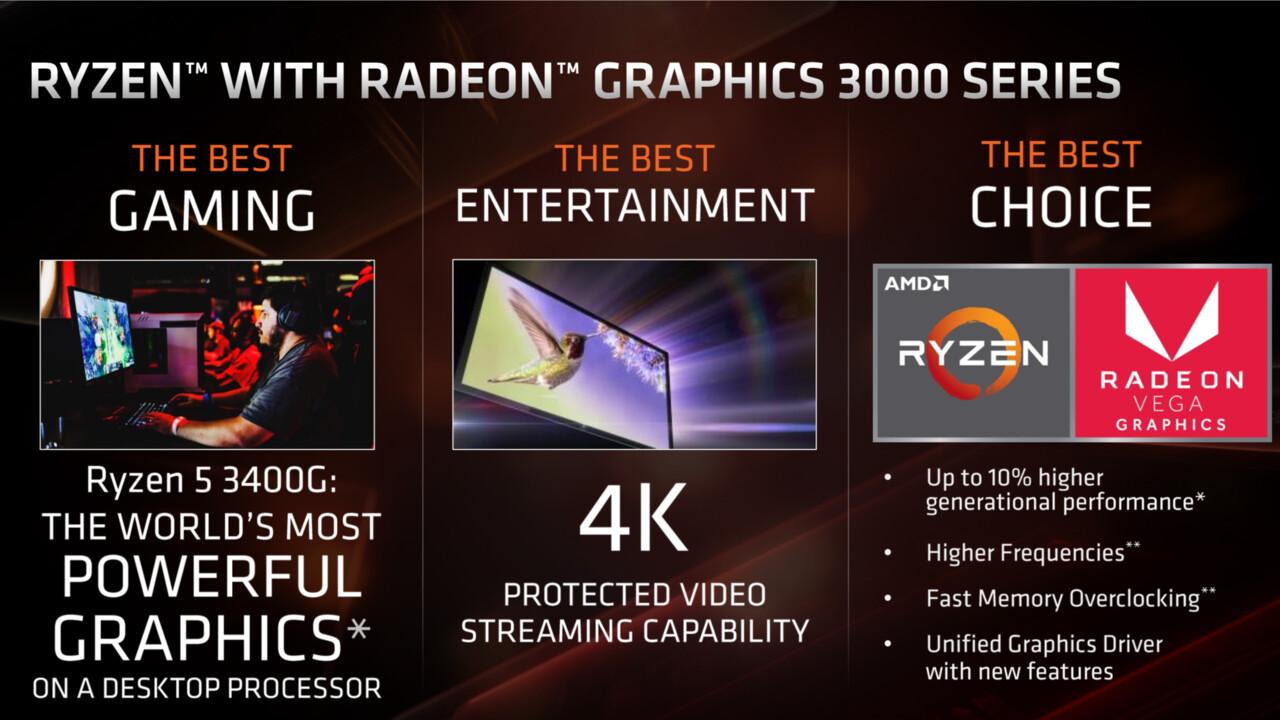AMD Picasso: Ryzen 3 3200G und Ryzen 5 3400G sind offiziell