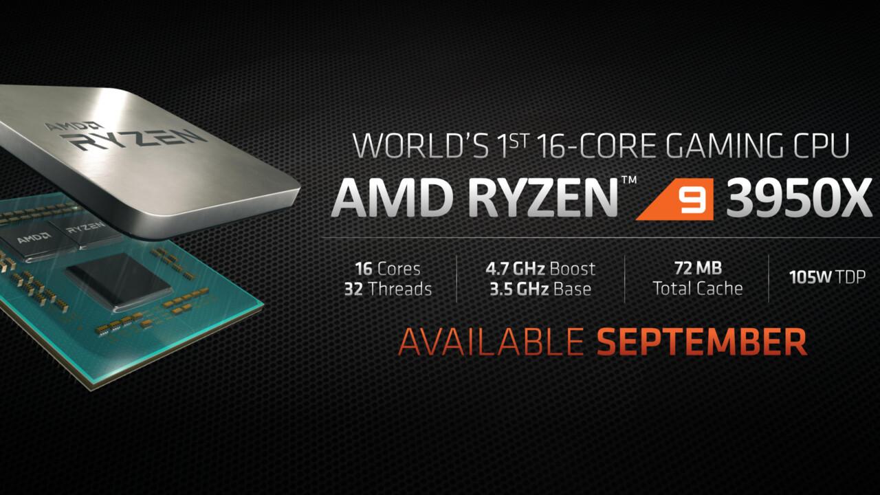 AMD Ryzen 9 3950X: 16 Kerne als Gaming-CPU kommen im September