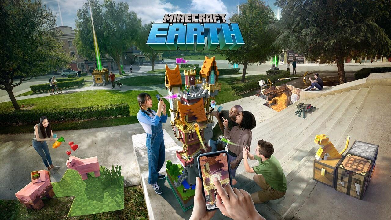 Minecraft Earth ausprobiert: AR-Klötzchenwelt in Lebensgröße und überall