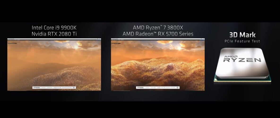 AMD-Demo mit 3DMark PCIe Feature Test zur Computex