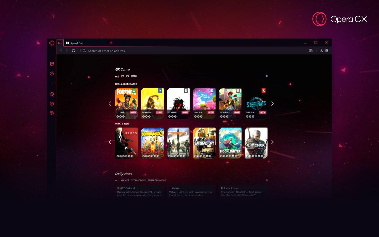GX Corner mit News und Spiele-Angeboten