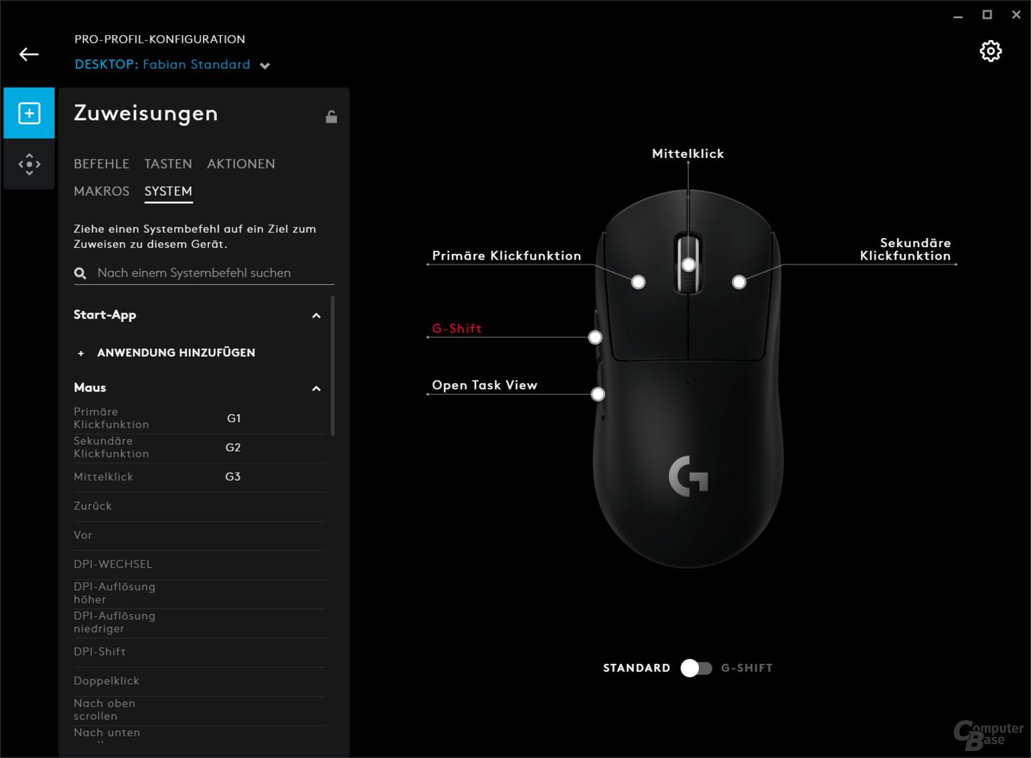 Logitech G HUB für Mäuse, Tastaturen, Headsets und Speaker der G-Serie