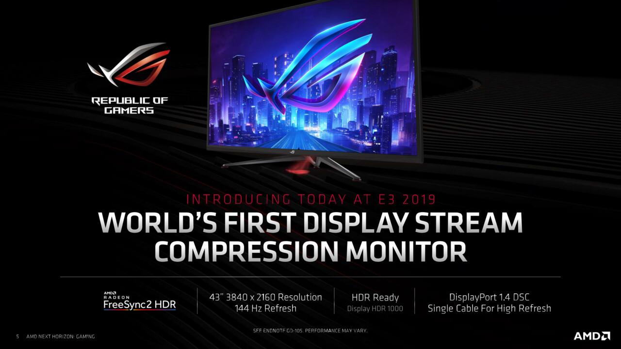 ROG-Monitor: Asus setzt auf DSC-Technik für UHD mit 120 Hz ohne Abstriche