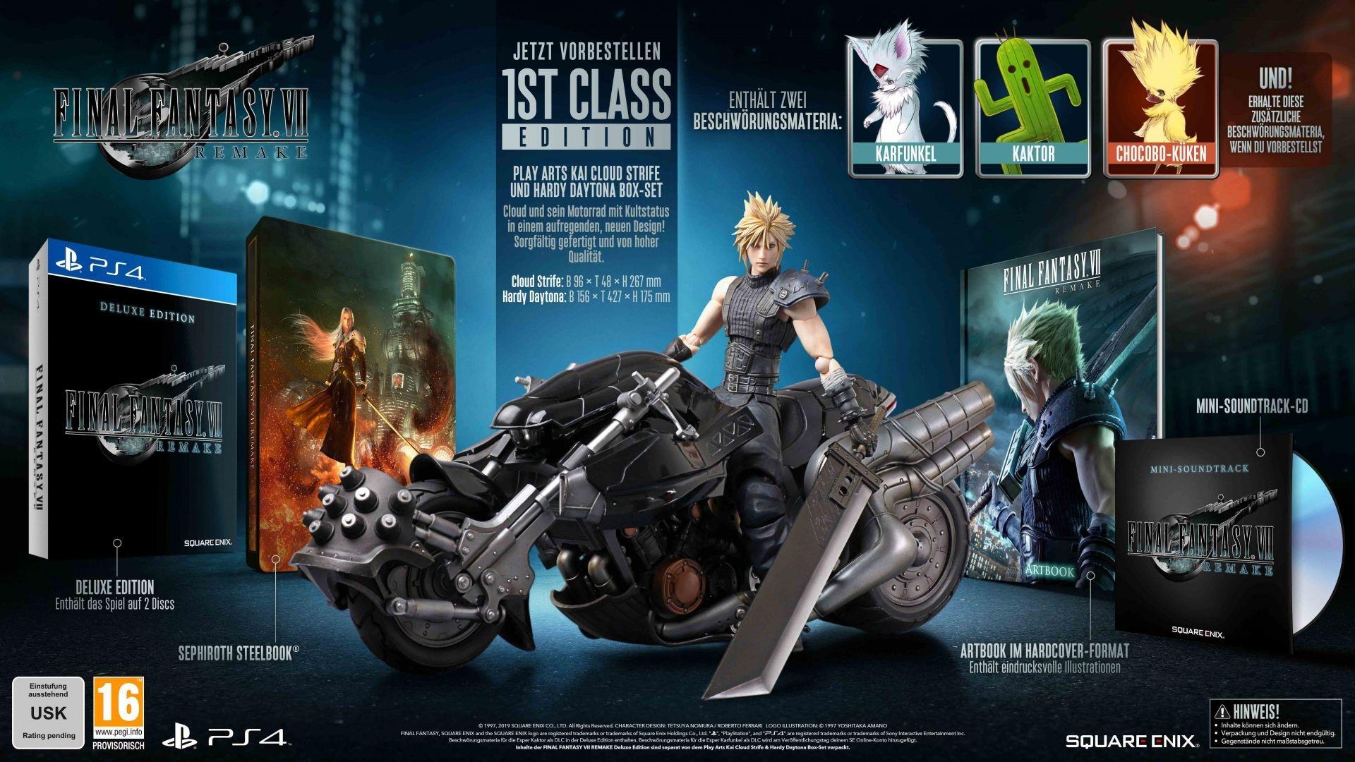 Final Fantasy VII Remake – 1st Class Edition für 300 Euro
