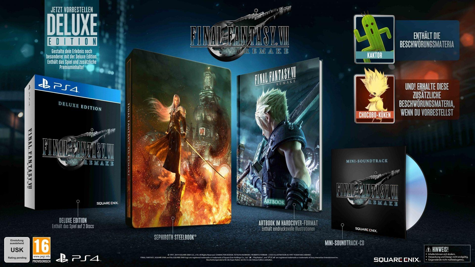 Final Fantasy VII Remake – Deluxe Edition für 90 Euro