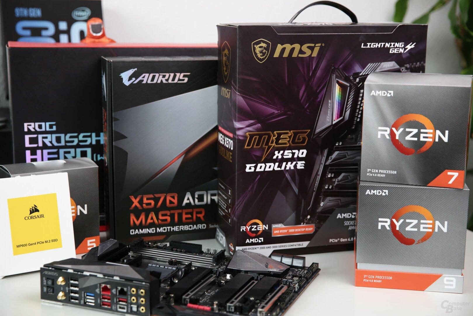 Mit Ryzen 3000 gibt es auch neue X570-Platinen und PCIe-4.0-SSDs