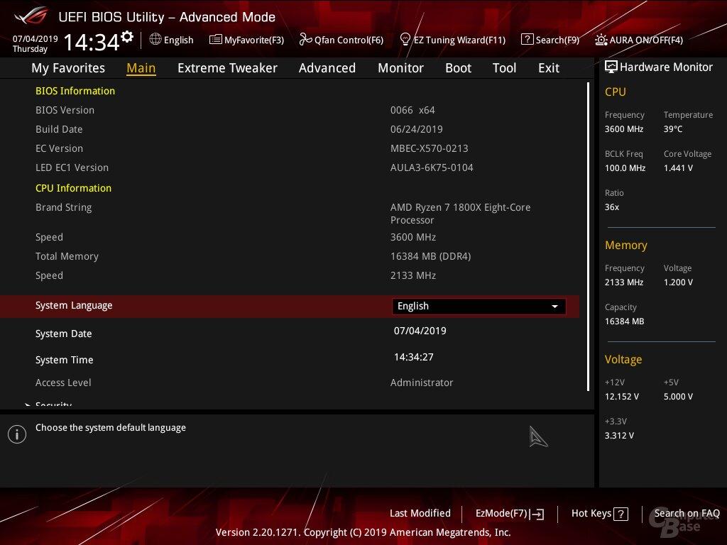 Ryzen 1000 auf dem Asus Crosshair VIII Hero mit X570-Chipsatz