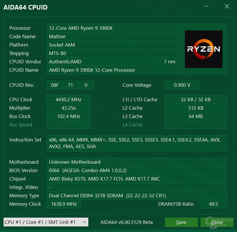 AMD Ryzen 9 3900X mit allen Kernen bei 4,4 GHz