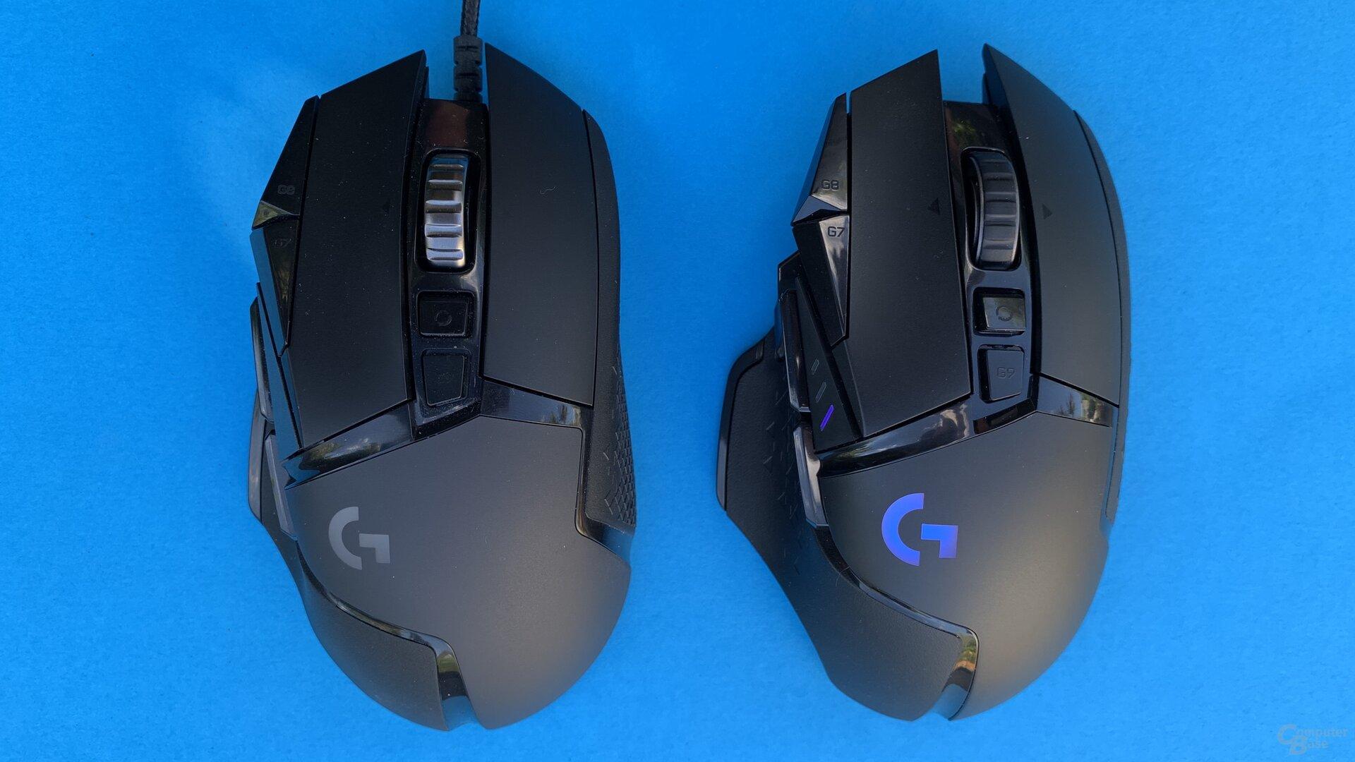 Logitech G502 Hero und G502 Lightspeed