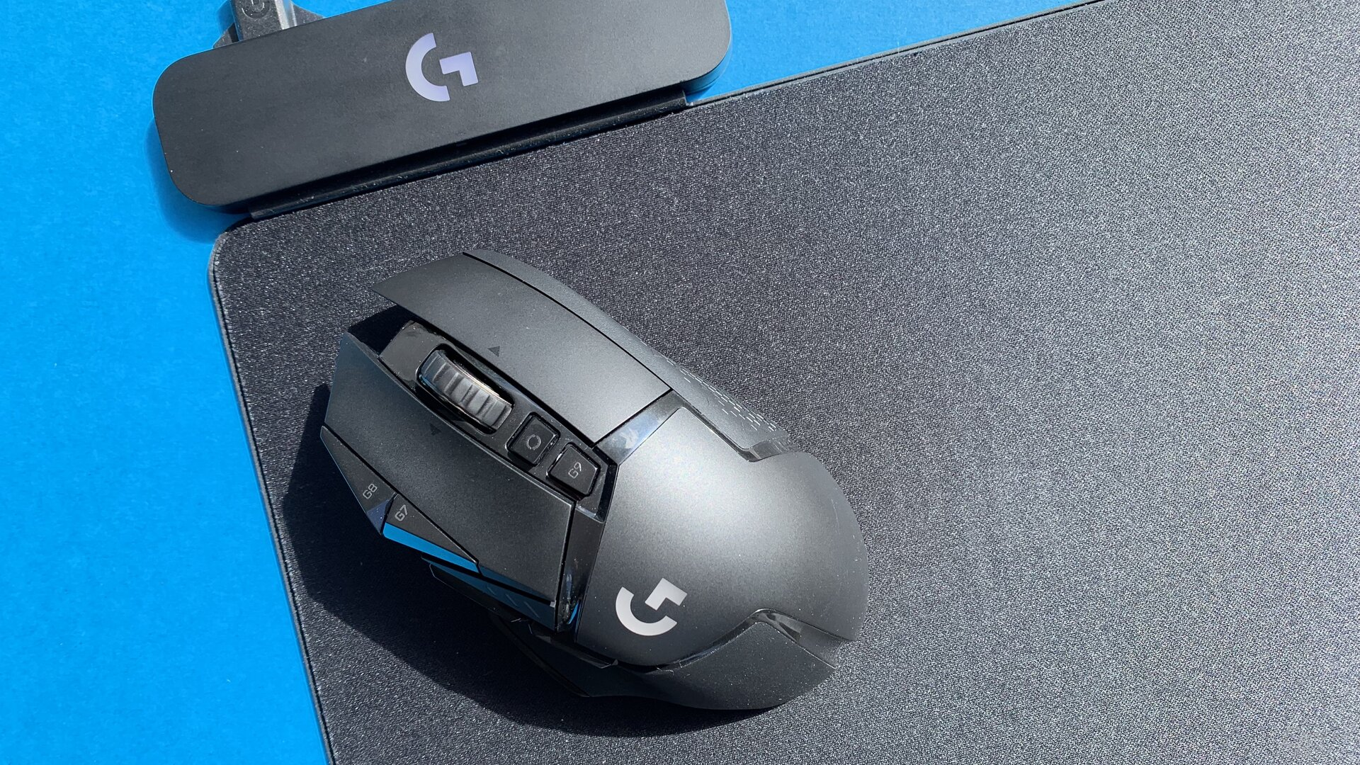 Logitech G502 Lightspeed mit PowerPlay-Mauspad