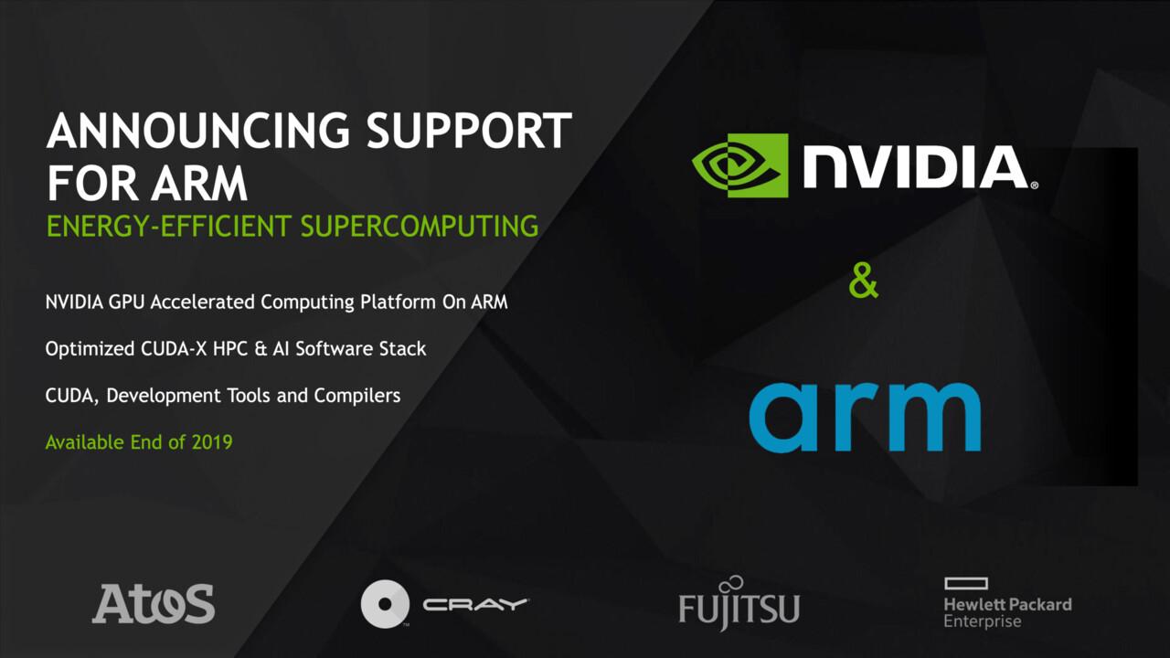 Für Supercomputer: Nvidia macht GPU-Software-Stack kompatibel zu ARM