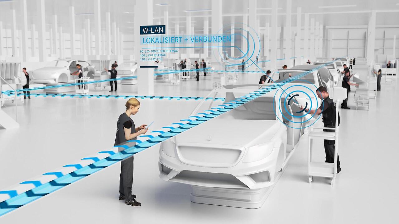 Factory 56: Mercedes-Benz und Telefónica bauen 5G-Indoor-Netz