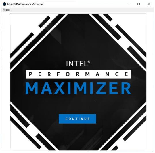Intels Performance Maximizer – Optimierungsprozess 1 von 7